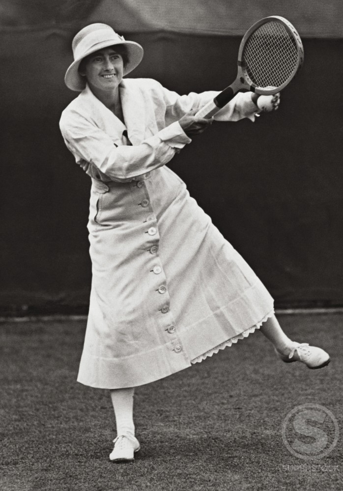 Stock Photo: 486-163 Mary K. Browne, (1912-1914), National Tennis Champion