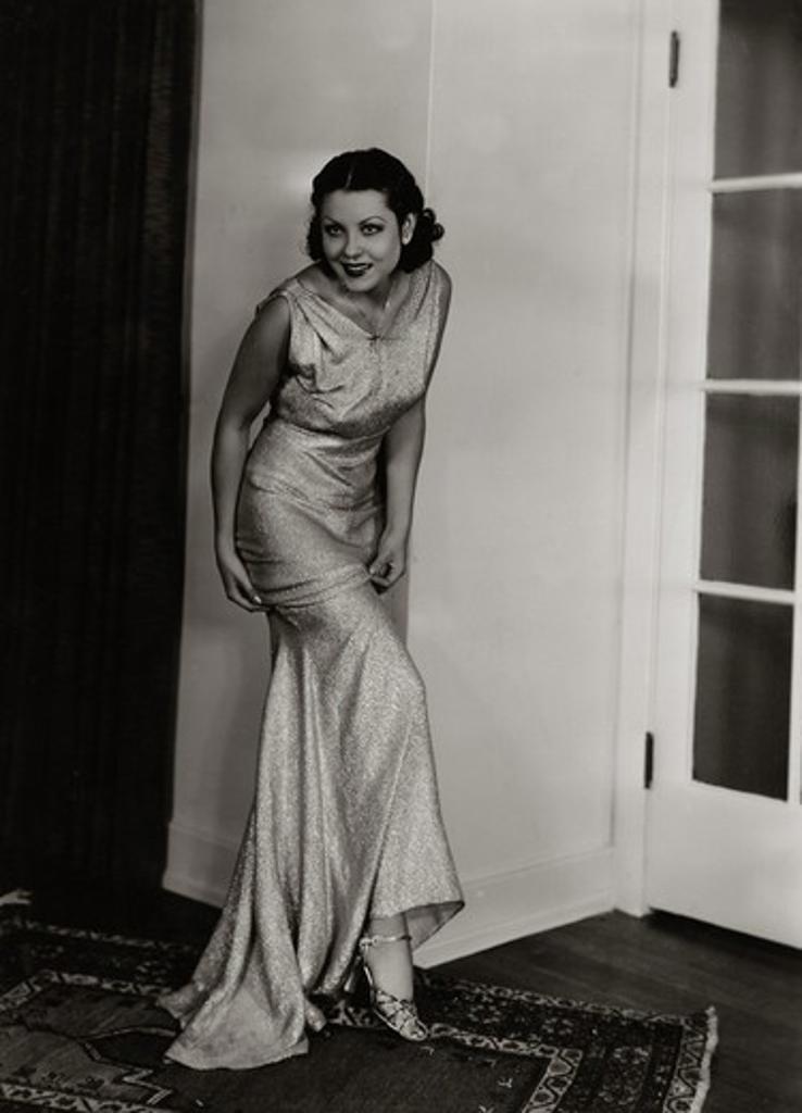 Young woman posing in elegant dress, 1931 : Stock Photo