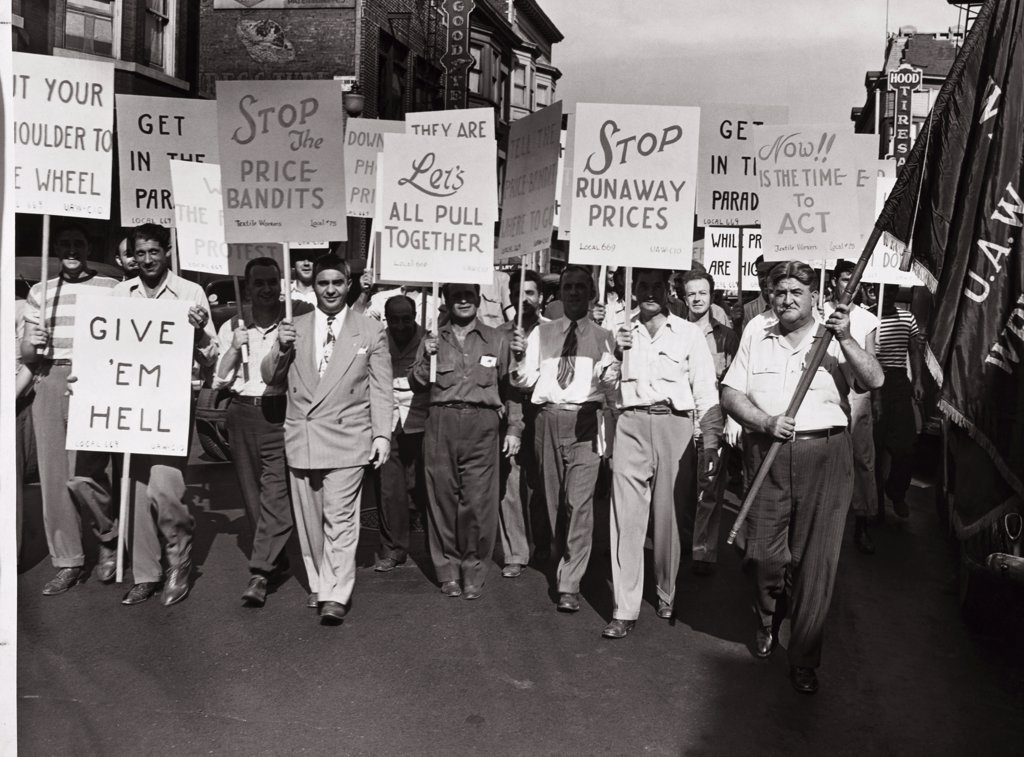 Stock Photo: 486-271 Union Picketers 