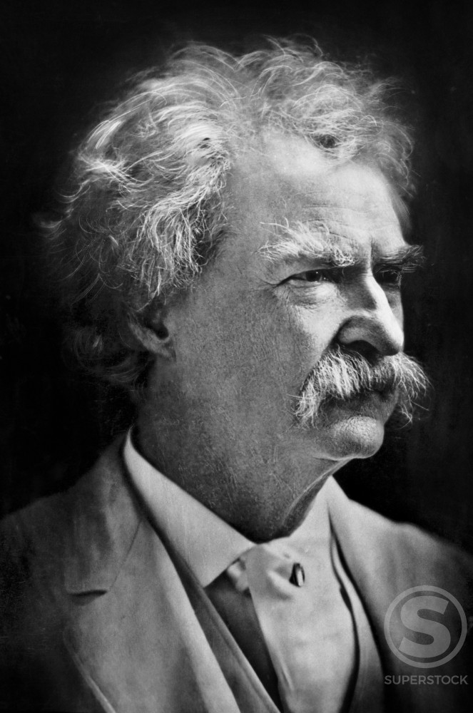 Samuel L. Clemens a.k.a. Mark Twain (1835-1910), American Author : Stock Photo