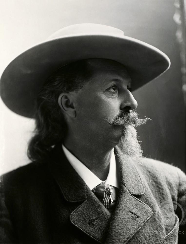 Stock Photo: 486-328 William F. Cody (Buffalo Bill)