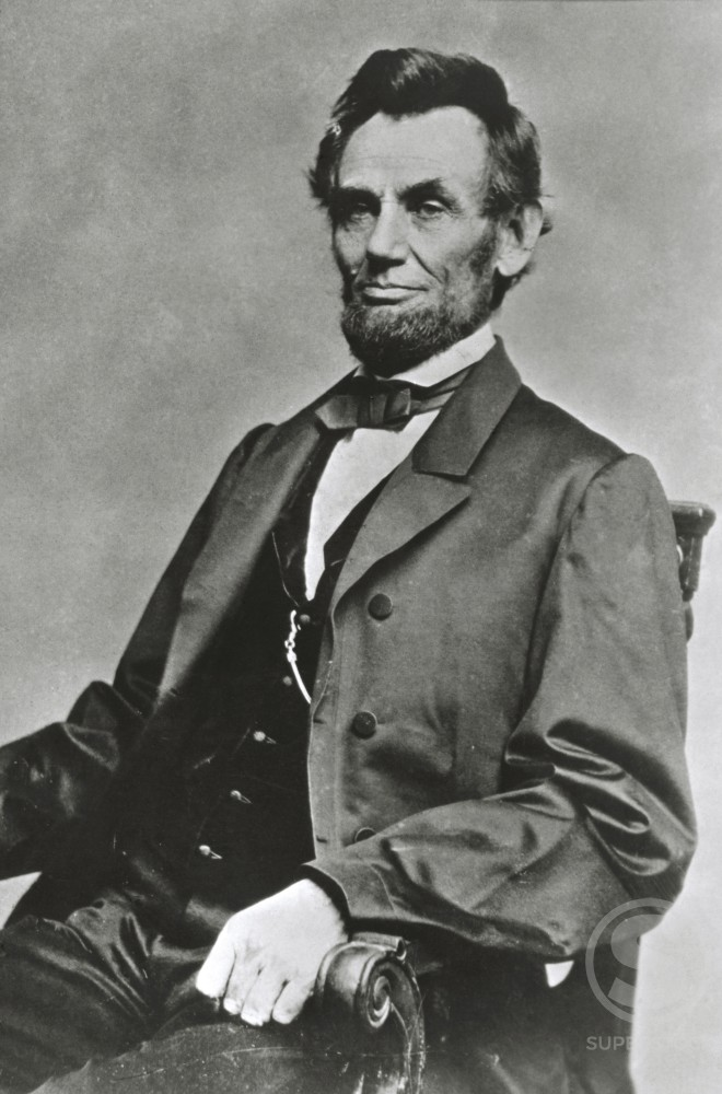 Stock Photo: 486-348 Abraham Lincoln, 1809-1865, 16th President of the United States