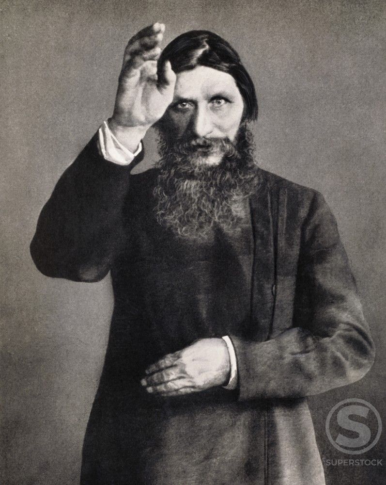 Grigori Yefimovich Rasputin, 1858-1924, Russian Monk : Stock Photo