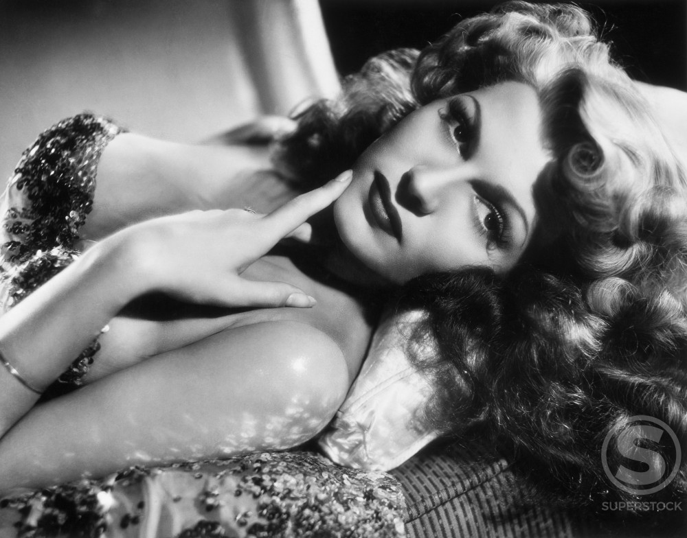 Stock Photo: 486-390 Rita Hayworth, Actress, (1918-1987)