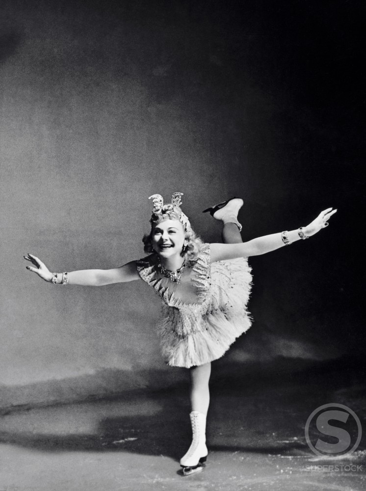 Sonja Henie, (1910-1969), Norwegian Olympic Skater and Film Actress : Stock Photo