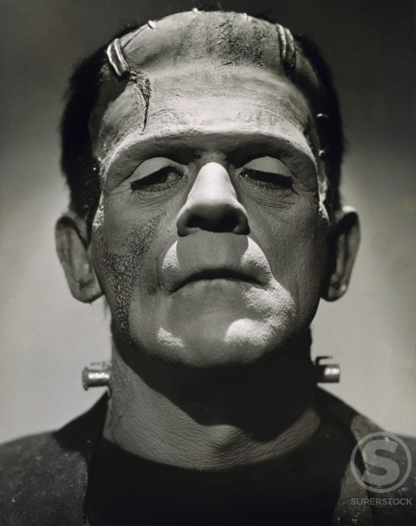 Boris Karloff, Frankenstein, 1931 : Stock Photo
