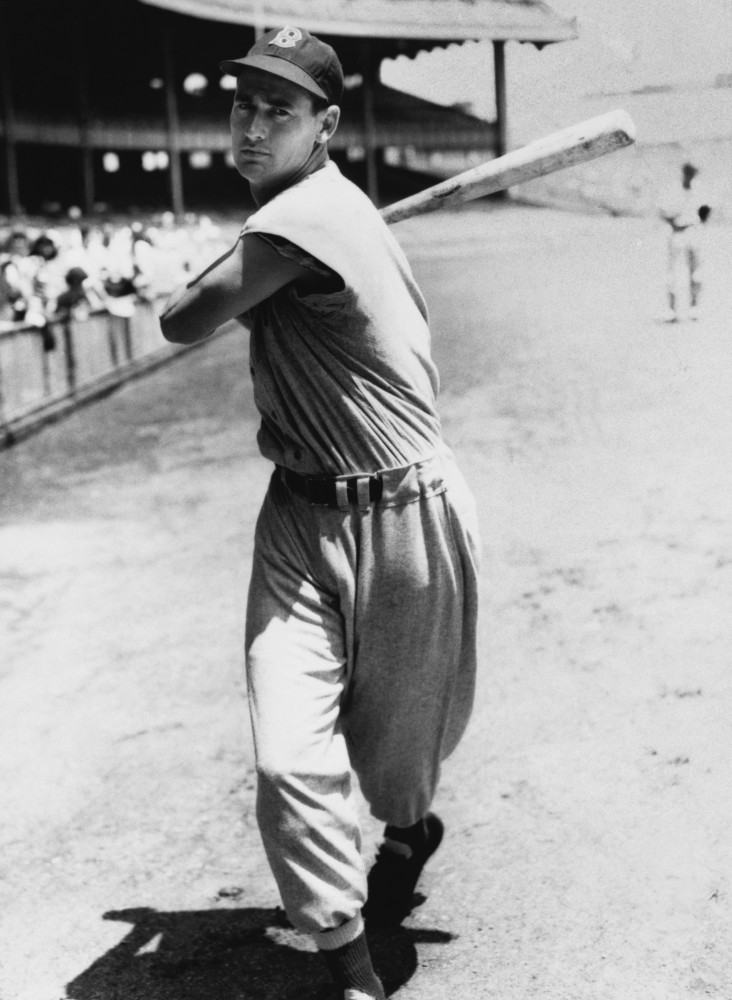 Stock Photo: 486-453 Ted Williams, (b. 1918), Baseball Player