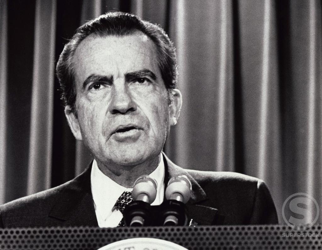 Richard Milhous Nixon 37th President of the United States (1913-1994) : Stock Photo