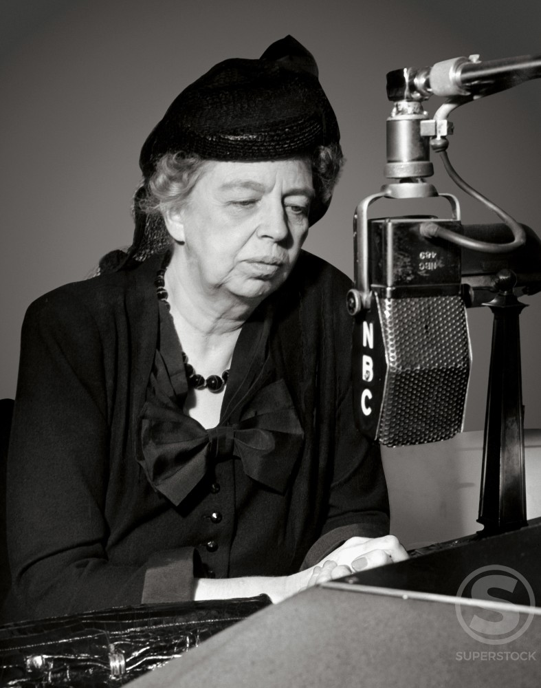 Stock Photo: 486-663 Eleanor Roosevelt, (1884-1962), American Humanitarian