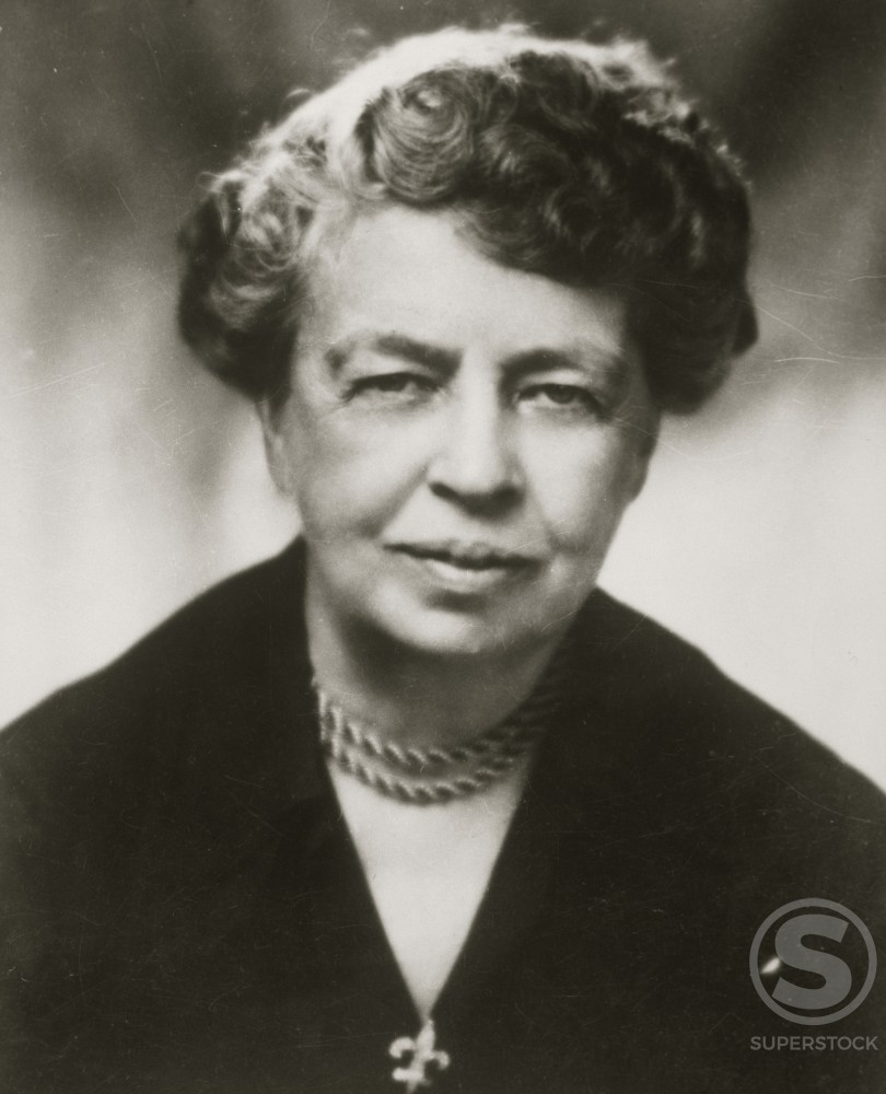 Stock Photo: 486-664 Eleanor Roosevelt, 1884-1962, American Humanitarian