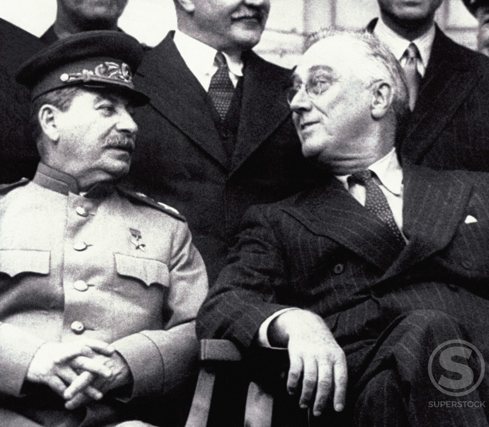 Stock Photo: 486-665 Franklin Roosevelt and Joseph Stalin