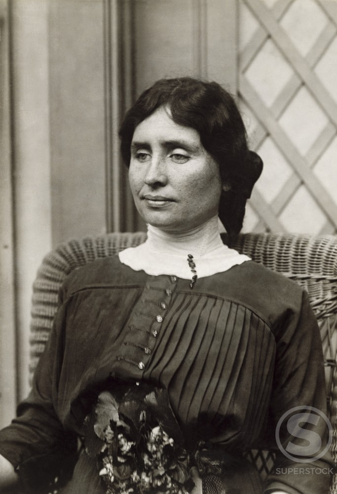 Stock Photo: 486-690 Helen Keller, Author and Educator, (1880-1968)
