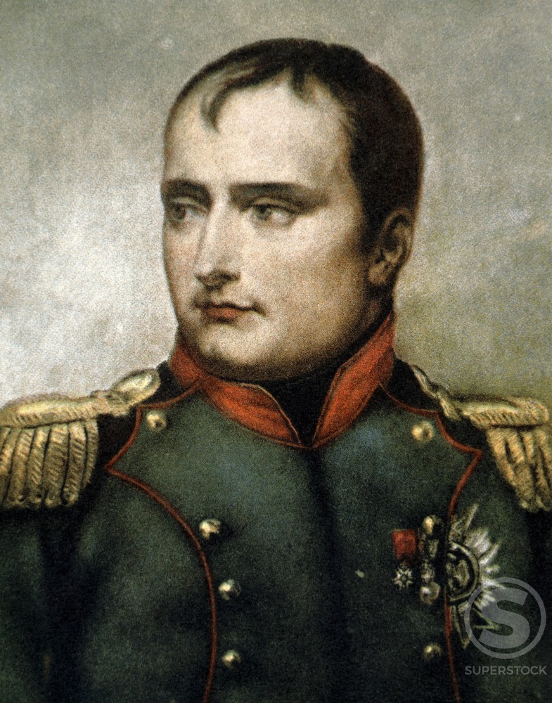 Napoleon Bonaparte (1769-1821) French Emperor and General Horace Vernet (1789-1863 French)  : Stock Photo