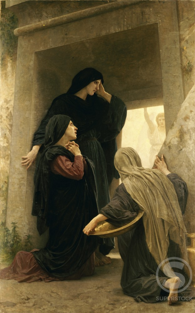 Stock Photo: 491-18050 The Three Marys at the Tomb
