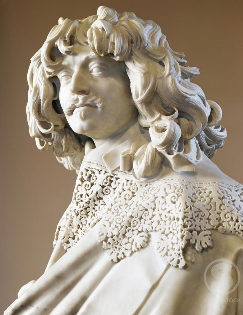 Stock Photo: 491-18056 Thomas Baker by Gian Lorenzo Bernini,  marble sculpture,  circa 1638,  (1598-1680)