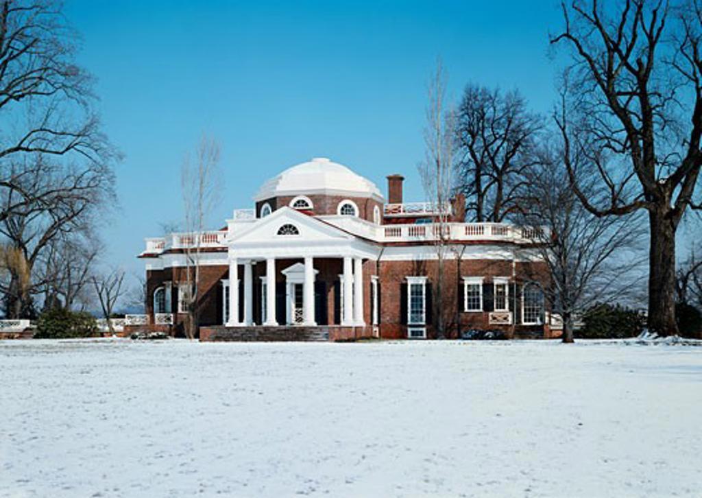 Stock Photo: 491-4753 Monticello Home of Thomas Jefferson Charlottesville Virginia, USA