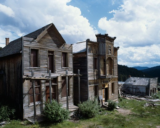 Stock Photo: 491-5035 Elkhorn Ghost Town