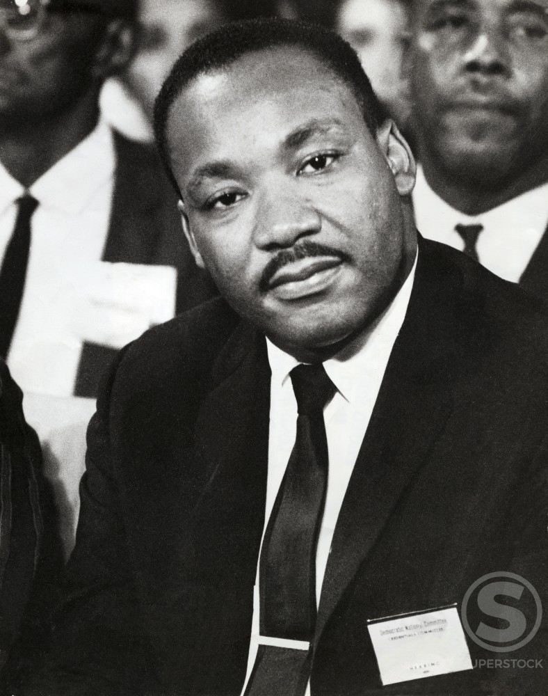 Stock Photo: 492-2185 Dr. Martin Luther King, Jr., 1929-1968, American civil rights leader