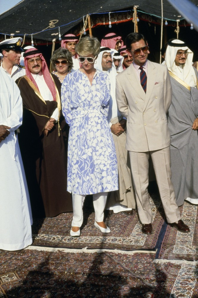 Charles and Diana's, Visit to Saudi Arabia : Stock Photo