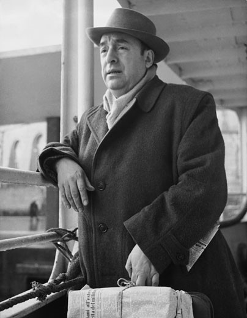 Stock Photo: 496-163 Pablo Neruda Chilean Poet 1952