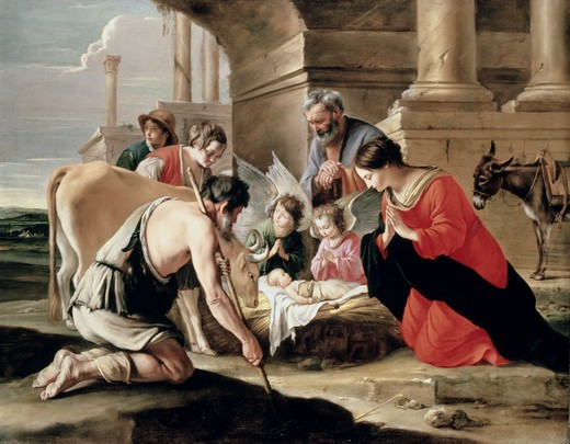 Stock Photo: 497-20513 Adoration of the Shepherds 