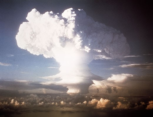 Nuclear Bomb Explosion : Stock Photo