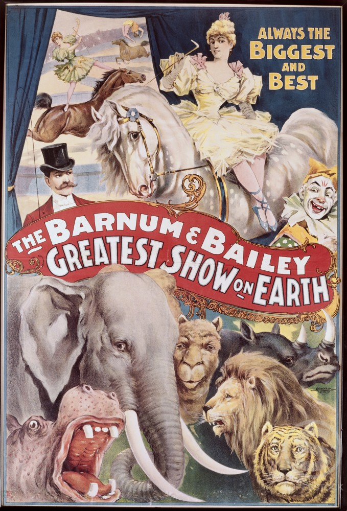 Stock Photo: 500-132001 Greatest Show on Earth, Barnum and Bailey Circus, poster