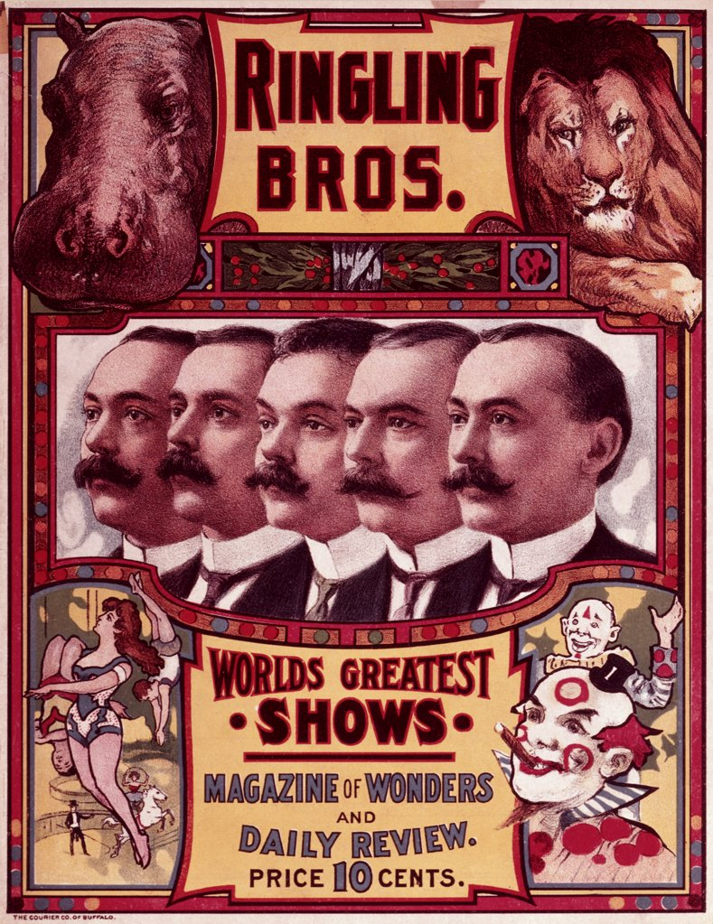 Magazine of Wonders, Ringling Brothers Circus, poster : Stock Photo