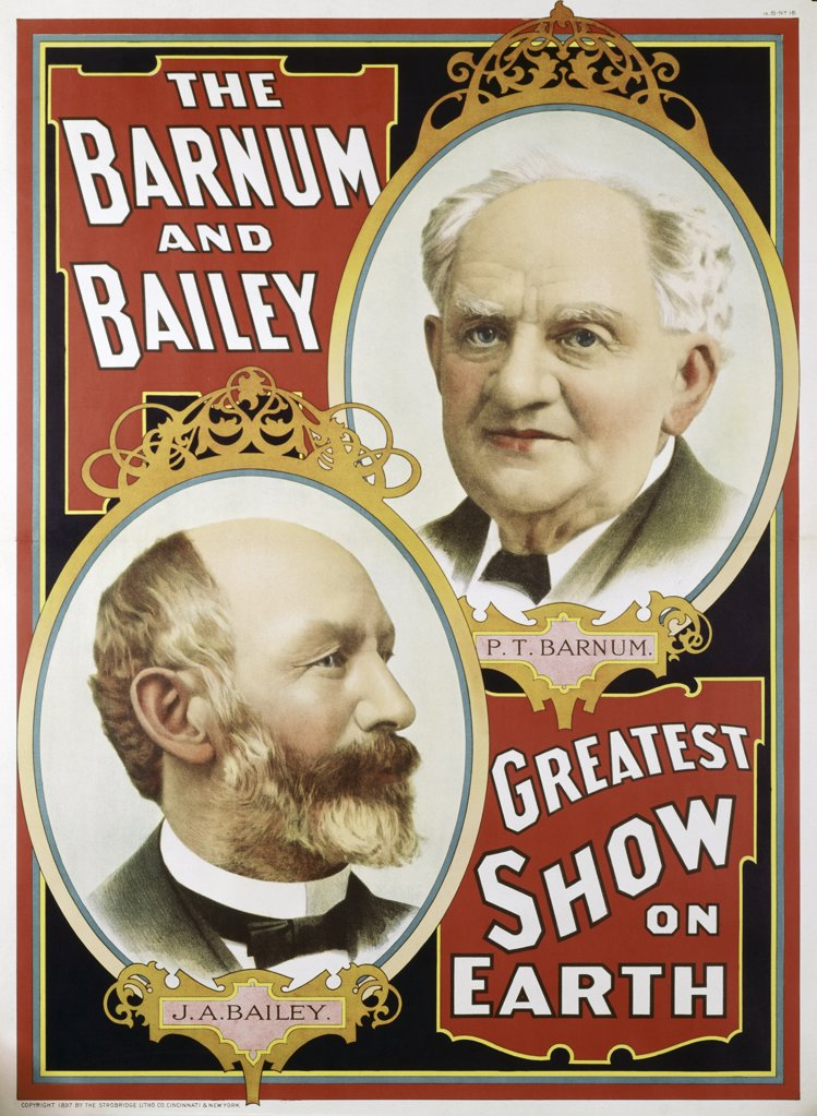 Stock Photo: 500-132012 Barnum & Bailey Magazine of Wonders & Daily Review Posters