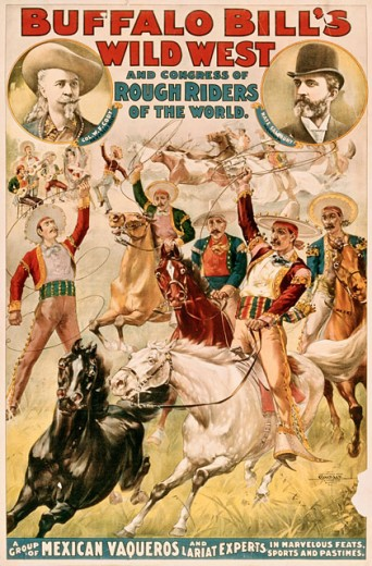 Buffalo Bill's Wild West Rough Riders, poster : Stock Photo