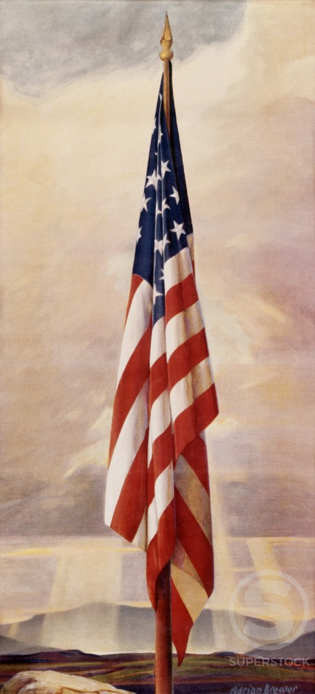 Stock Photo: 500-132603 American Flag by Adrian Brewer