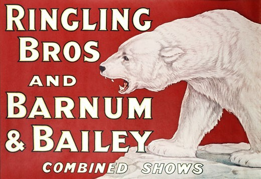 Stock Photo: 500-135505 Circus poster, Ringling Brothers and Barnum and Bailey, poster
