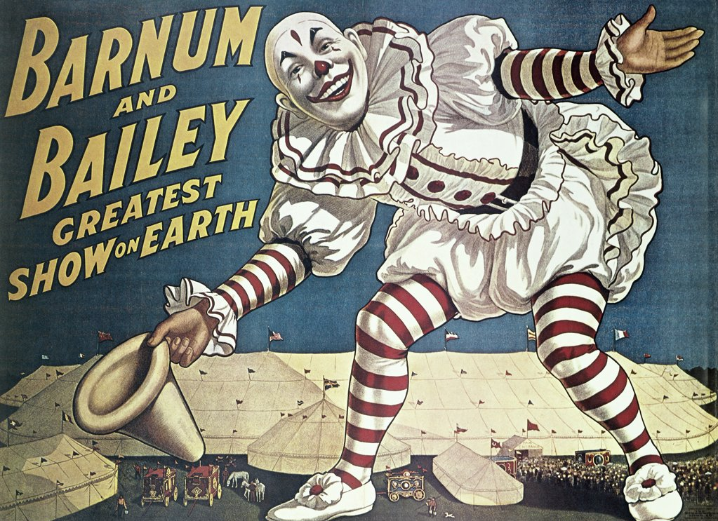 Stock Photo: 500-135510 Barnum and Bailey Greatest Show on Earth, poster, Nostalgia UK, 500