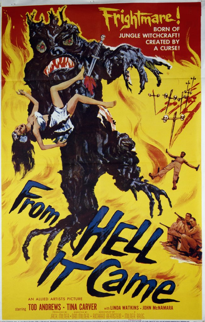 From Hell It Came, movie poster, Nostalgia UK, 500 : Stock Photo