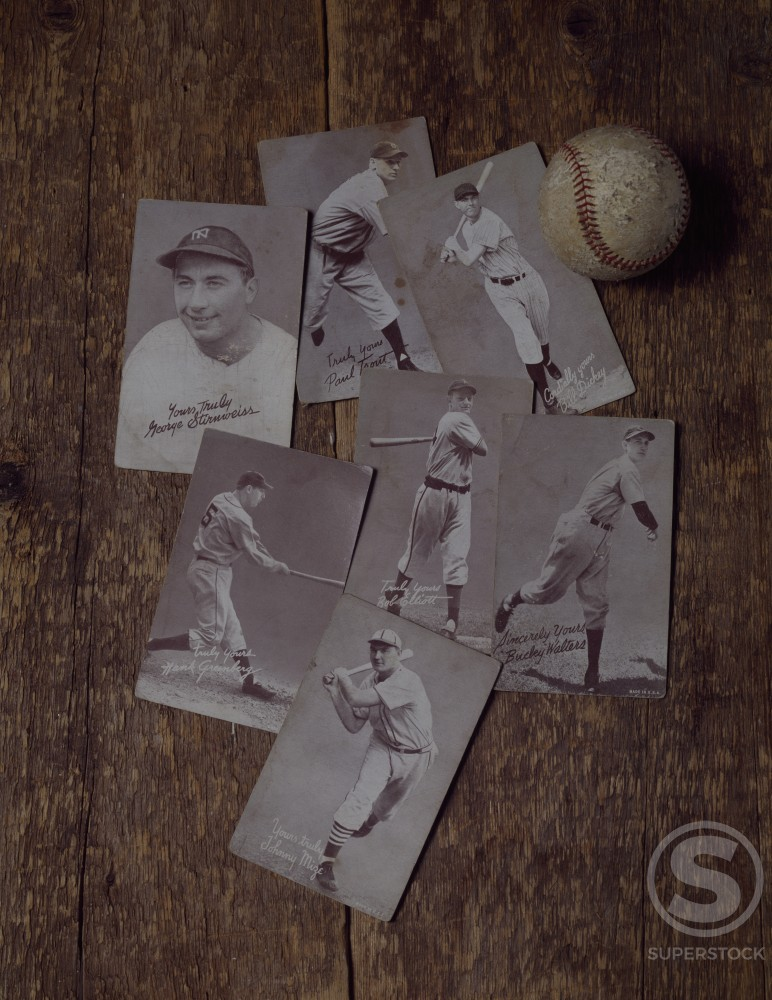 Baseball Playing Cards : Stock Photo