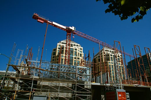 Stock Photo: 502-821 Low angle view of a crane, Oakland, California, USA