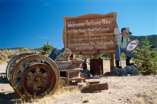 Stock Photo: 52-391A Ione Ghost Town, Nevada, USA