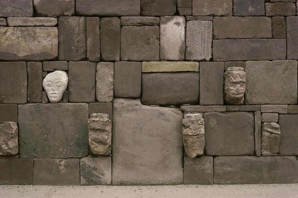 Tiahuanaco ( Aymara Culture ) Bolivia : Stock Photo