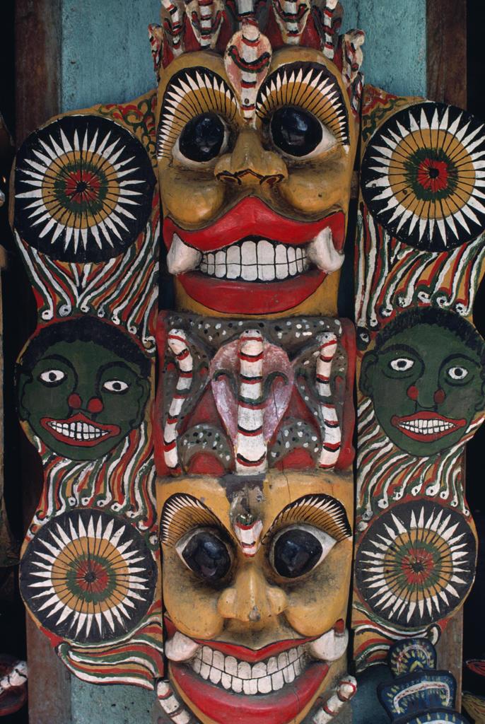 Stock Photo: 53-1535 Buddhist Devil Mask,  Sri Lanka