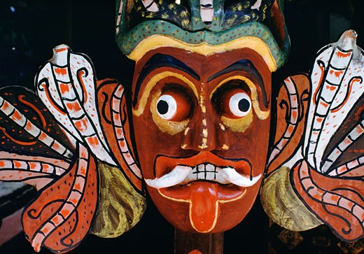 Stock Photo: 53-1536 Buddhist Devil Mask