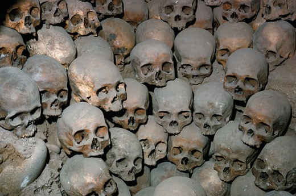 Stock Photo: 53-1968 Catacombs San Francisco Church Lima, Peru