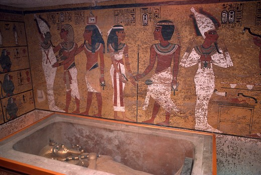 Egypt, Luxor, Valley of the Kings, Tomb of Tutankhamen : Stock Photo