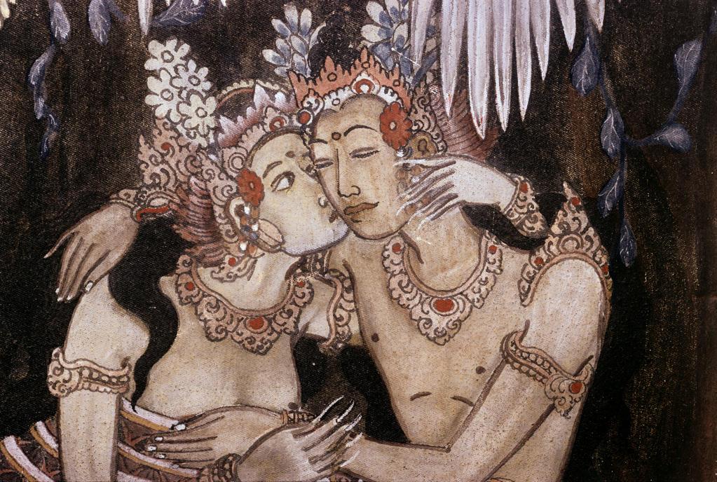 Contemporary Balinese Hindu Painting Bali Indonesian Art : Stock Photo
