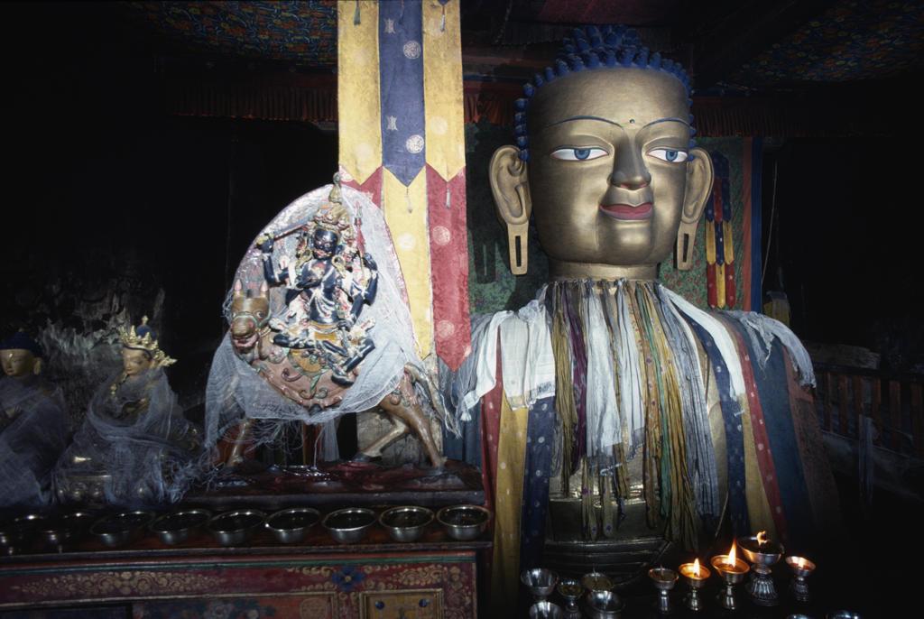 Stock Photo: 53-2271 Shey Monastery,  sculpture of Buddha,  India,  Jammu and Kashmir,  Ladakh