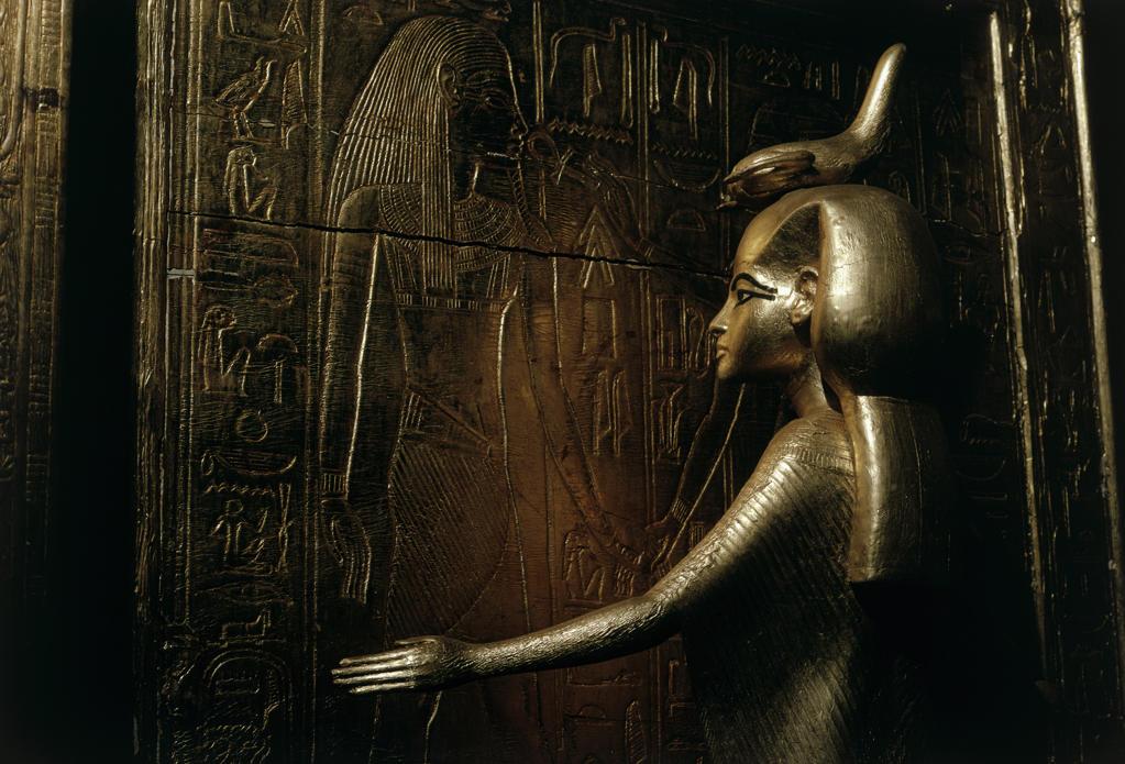 The Goddess of Selkit From the Tomb of Tutankhamen Egyptian Museum Cairo, Egypt : Stock Photo