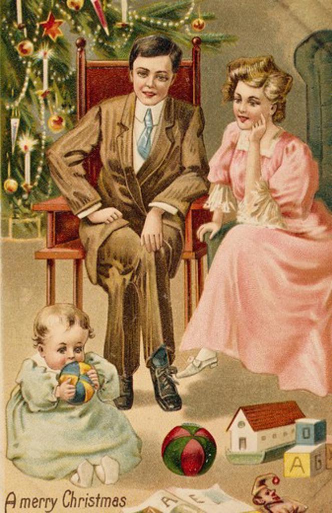 Merry Christmas, Nostalgia Cards : Stock Photo