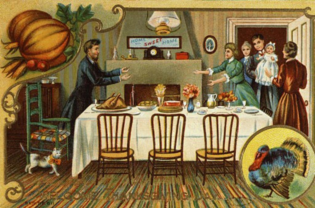 Stock Photo: 535-144949 Welcome Thanksgiving Day Nostalgia Cards