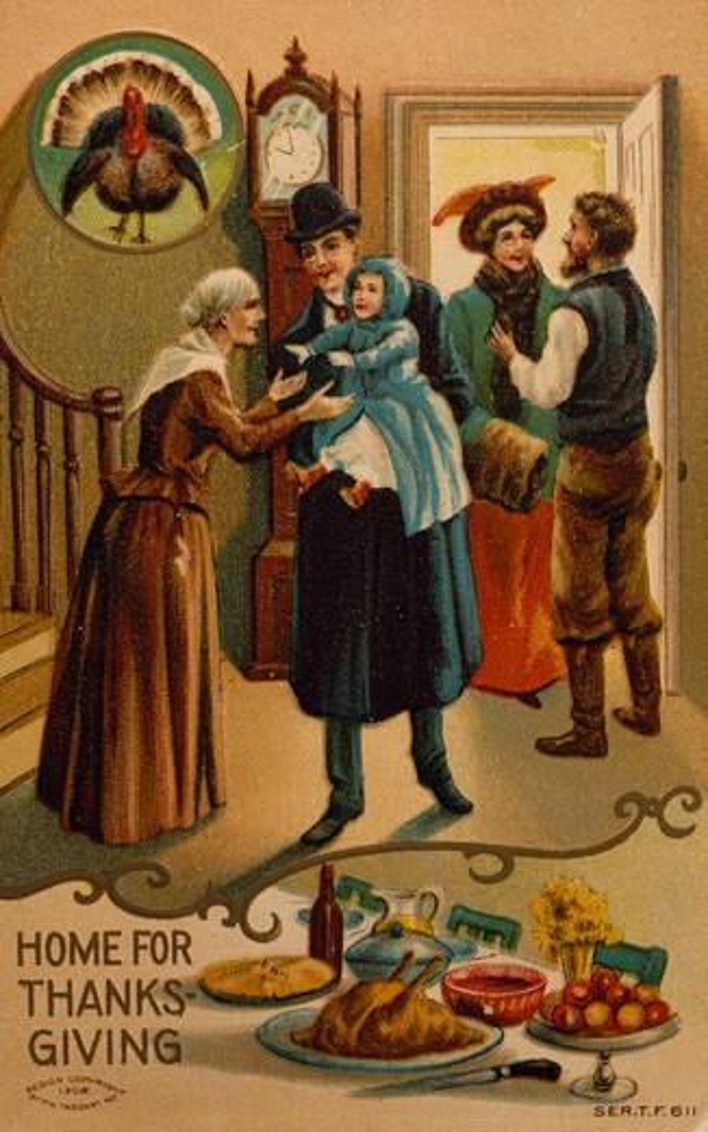Home for Thanksgiving, Nostalgia Cards : Stock Photo