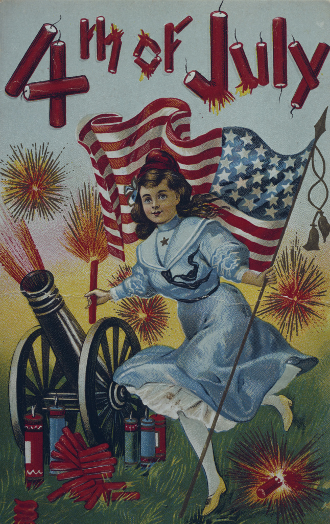 Fourth of July, Nostalgia cards : Stock Photo