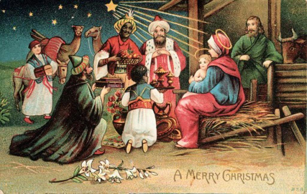 Stock Photo: 535-145508 A Merry Christmas 1907 Nostalgia Cards